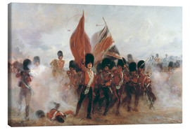 Canvas print  The Colours: advance of the Scots Guards at the Alma - Lady Butler