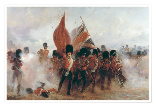 Premium poster The Colours: advance of the Scots Guards at the Alma