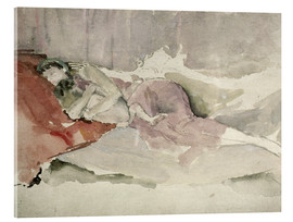 Acrylic print  Mother and child on a sofa - James Abbott McNeill Whistler