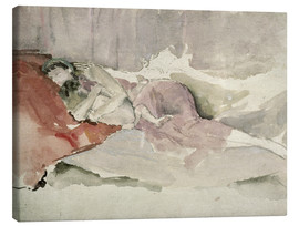 Canvas  Mother and child on a sofa - James Abbott McNeill Whistler