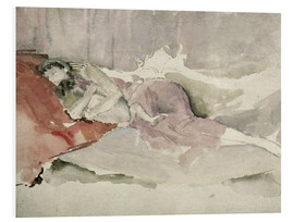 Foam board print  Mother and child on a sofa - James Abbott McNeill Whistler