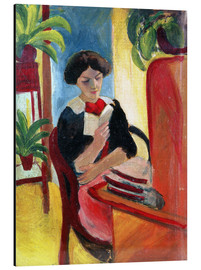 Aluminium print  Elizabeth Reading - August Macke
