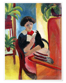 Premium poster  Elizabeth Reading - August Macke