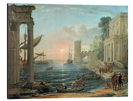 Aluminium print  Seaport with the Embarkation of the Queen of Sheba - Claude Lorrain