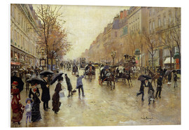Jean Beraud - Boulevard Poissonniere in the Rain
