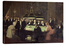 Canvas print  The Gaming Room at the Casino - Jean Beraud