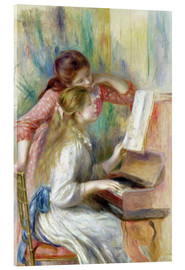 Acrylic print  Young Girls at the Piano - Pierre-Auguste Renoir
