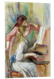 Foam board print  Young Girls at the Piano - Pierre-Auguste Renoir