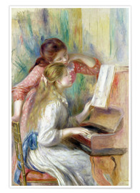 Premium poster  Young Girls at the Piano - Pierre-Auguste Renoir