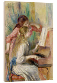 Wood print  Young Girls at the Piano - Pierre-Auguste Renoir