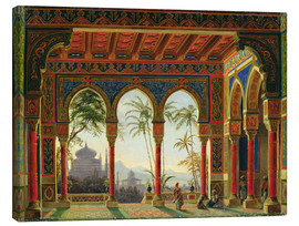 Canvas  Stage design for the opera 'Ruslan and Lyudmila' by M. Glinka - Andreas Leonhard Roller