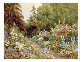 Premium poster  Herbaceous Border - Evelyn L. Engleheart