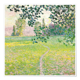 Premium poster  Morning landscape - Claude Monet