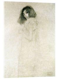 Acrylic print  Portrait of a young woman - Gustav Klimt