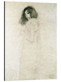 Alu-Dibond  Portrait of a young woman - Gustav Klimt