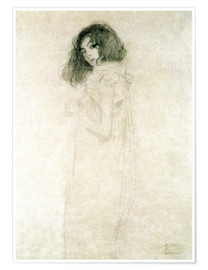 Premium poster  Portrait of a young woman - Gustav Klimt