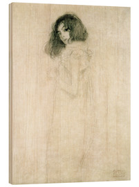 Wood  Portrait of a young woman - Gustav Klimt