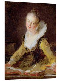 Foam board print  The Study - Jean-Honoré Fragonard