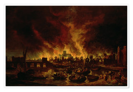 Premium poster The Great Fire of London in 1666