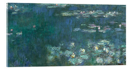 Acrylic print  Water Lilies, Green Reflections 2 - Claude Monet