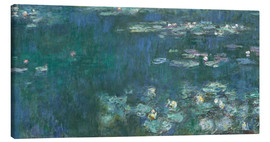 Canvas print  Water Lilies, Green Reflections 2 - Claude Monet