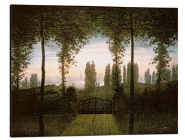 Aluminium print  Remembrance of Johann Bremen - Caspar David Friedrich