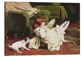 Aluminium print  Time to Play - Charles Burton Barber