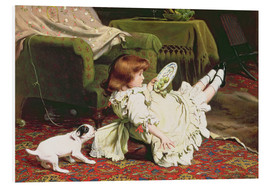 Foam board print  Time to Play - Charles Burton Barber