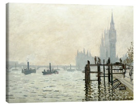 Canvas print  The Thames below Westminster - Claude Monet