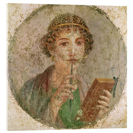 Acrylic glass  Portrait of a young girl - Roman