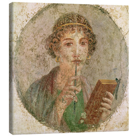 Canvas print  Portrait of a young girl - Roman