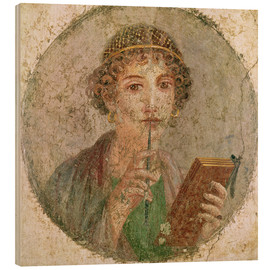 Wood print  Portrait of a young girl - Roman