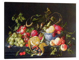 Aluminium print  A still life with fruits - Cornelis de Heem
