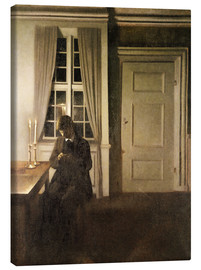 Canvas  The Collector of Coins - Vilhelm Hammershoi