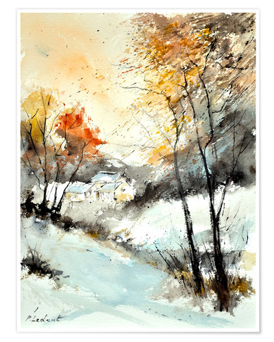 Premium poster Watercolor winter
