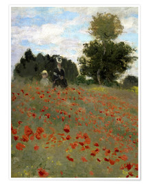 Poster Poppy field at Argenteuil