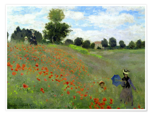 Premium poster Poppy field at Argenteuil, detail