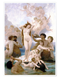Premium poster  Birth of Venus - William Adolphe Bouguereau