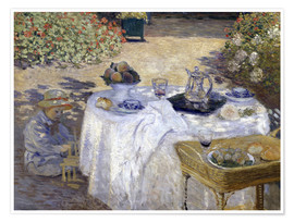 Premium poster Lunch: Monet's garden at Argenteuil