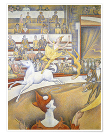Poster  Le cirque - Georges Seurat
