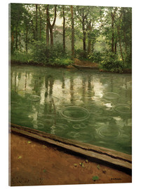 Acrylic glass  The Yerres in the rain - Gustave Caillebotte