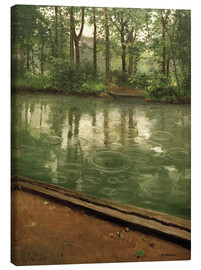 Canvas print  The Yerres in the rain - Gustave Caillebotte