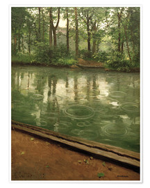 Premium poster  The Yerres in the rain - Gustave Caillebotte