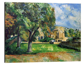 Aluminium print  Chestnut trees an farm - Paul Cézanne