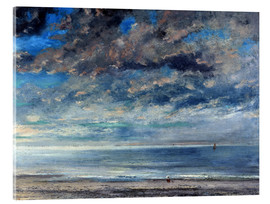 Acrylic print  Beach at sunset - Gustave Courbet