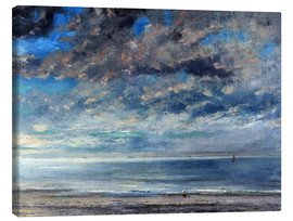 Canvas  Beach at sunset - Gustave Courbet
