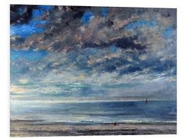 Forex  Beach at sunset - Gustave Courbet
