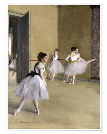 Premium poster  Ballet room at the Peletier - Edgar Degas