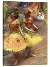 Canvas print  Two dancers - Edgar Degas