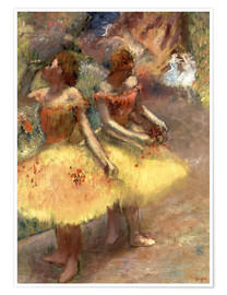 Premium poster  Two dancers - Edgar Degas